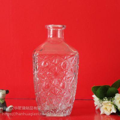 500ml钻石玻璃酒瓶,出口高档酒瓶,徐州玻璃酒瓶生产商