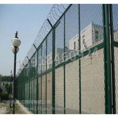 批发V型架铁丝网 海南机场防护网 五指山监狱热镀锌边框围网 晟成