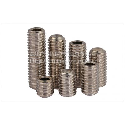供应-宏达标准 304不绣钢机米螺丝 凹端紧定螺钉 内六角无头螺丝 机米 顶丝