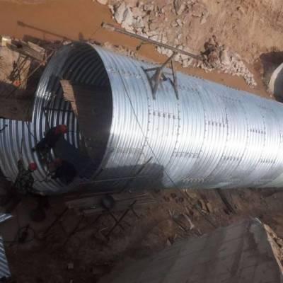 贝尔克零利润销售钢波纹涵管、金属波纹管涵 实力厂家
