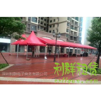 深圳3米X3米红色蓝色折叠小帐篷雨棚遮阳蓬广告帐篷展会庆典帐篷出租赁