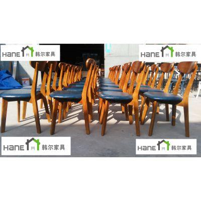 上海轻食餐厅椅子轻食餐厅实木椅子定做 上海韩尔简约风格