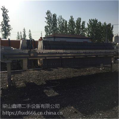 重庆出售二手500平方自动隔膜压滤机 二手厢式压滤机 污水处理设备