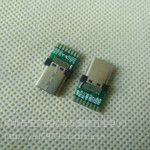 3.1TYPE-C焊线式公头带USB 3.0.0PCB板=(有缝)typeC公头冲压款