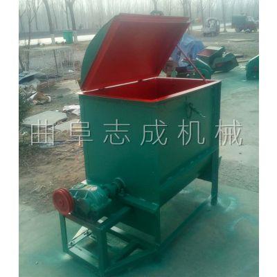 养殖场拌料机 300公斤的牛饲料拌草机 高效率高产量的卧式搅拌机