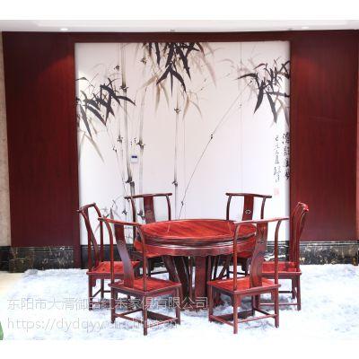 安徽合肥精品红木家具价格老挝大红酸枝交趾黄檀1.38米圆台圆桌