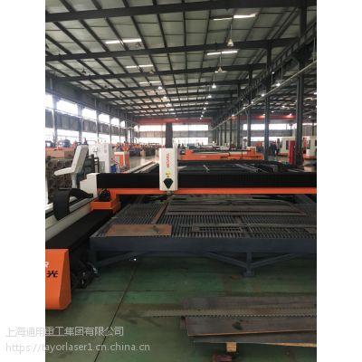 上海通用高速大型龙门光纤激光金属切割机