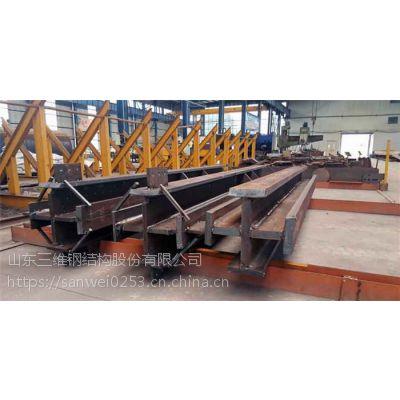 山东十字钢柱来图加工出口厂家——三维钢构