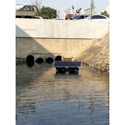 安徽宝绿供应景观湖生态修复装置,太阳能循环曝气机