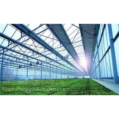 钢结构光伏大棚厂家 三维钢构专业加工太阳能支架