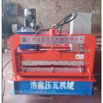 河北浩鑫压瓦机厂家直供甘肃910型全自动压瓦机 设备质保一年