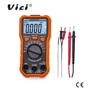 维希VICI 6000真有效值自动量程数字万用表VC837 NCV 照明灯带背光