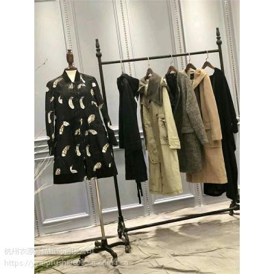 杭州品牌折扣女装周仕依林冬装剪标库存女装批发