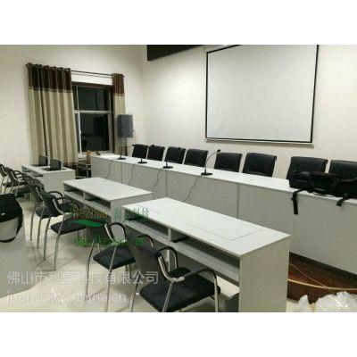 翻转电脑桌专用于部队 深圳广播大学培训桌 自动翻转电脑桌批发