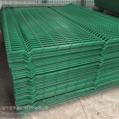 安平桃型柱护栏网供应 水库专用双边丝隔离网 城市绿化防护网