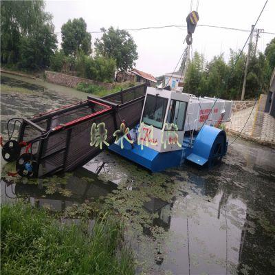 定制河道清理水浮莲机械,打捞水葫芦设备,景区水面垃圾保洁船