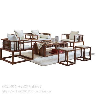 成都古典中式民俗实木家具定做定制工厂 成都仿古火锅店家具定制定做