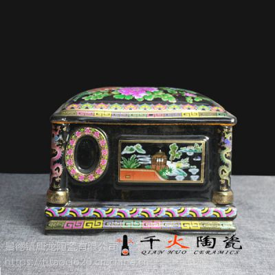 千火陶瓷 清明节用陶瓷骨灰盒厂家批发