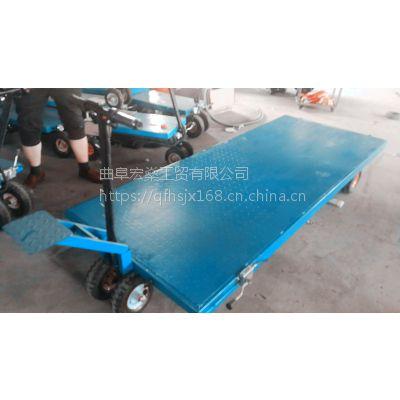 加气砖空心砖电动手推车 装修上料电动平板车