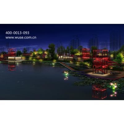 山东公园亮化-秦皇河湿地公园夜景照明设计