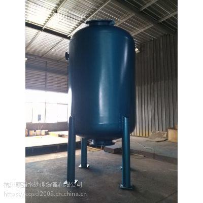 DN1200mm 耐80度高温 碳钢衬丁基橡胶过滤器
