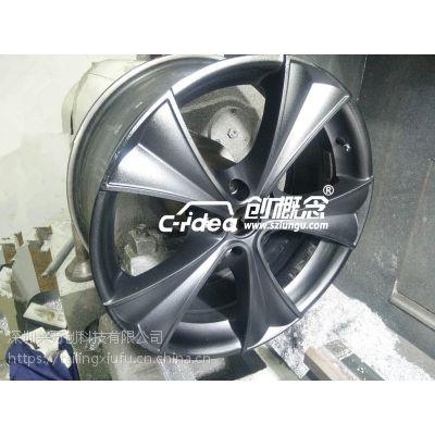 汽车轮毂修复 轮毂翻新校正 胎铃刮伤修补