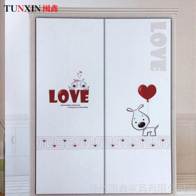 高密度复合板衣柜移门推拉门精雕门 烤漆工艺玻璃衣柜移门