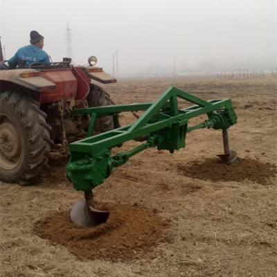 大马力拖拉机带动挖坑机 大直径钻眼机 汽油挖坑机