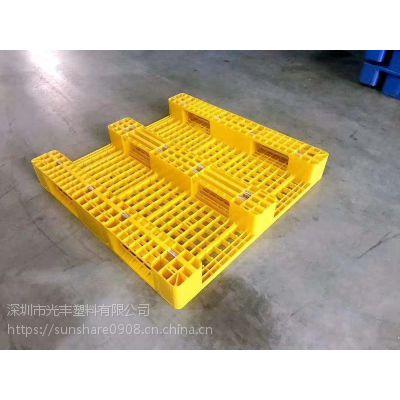 供应长沙1412双面网格垫板 出口塑料托盘 塑胶卡板叉车平板栈板