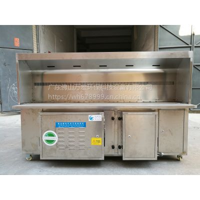 广东万宏环保直销木炭无烟烧烤炉 玻璃不锈钢都有 可过来厂房看看