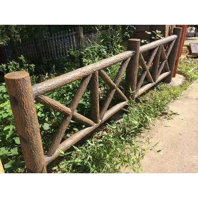 深圳河道仿木护栏价格,河道水泥仿木栏杆制作公司