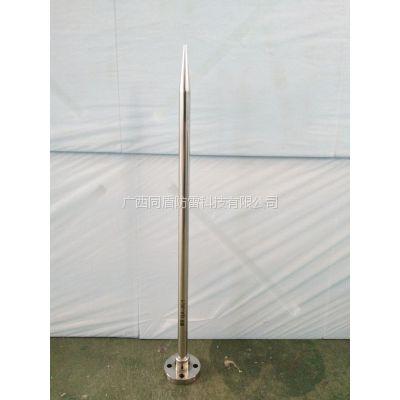 供应GA-JK/1监控避雷针,立杆避雷短针,室外监控接闪器
