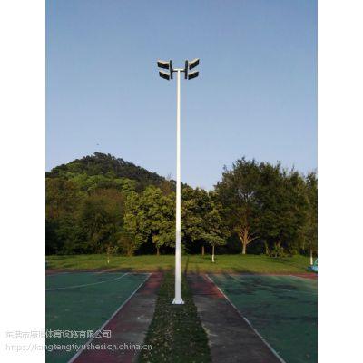 6米7米球场灯杆灯具 篮球场灯光系列安装配置 6-15米镀锌管高杆灯