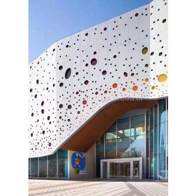 浑江冲孔造型铝单板 六角冲孔铝幕墙板