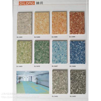 商用PVC塑料弹性地板卷材 2.0密实底PVC地胶 厂家直销 商场,学校