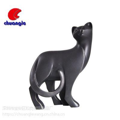北欧式几何折纸黑色猫 树脂摆件 家居橱窗礼品摆设