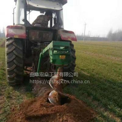 厂家直销挖坑机 植树的 四轮拖拉机带挖电线杆机器