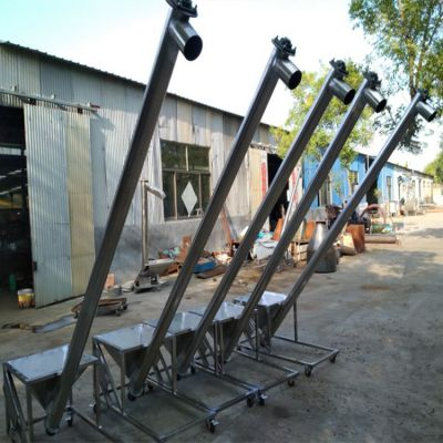 不锈钢螺旋提升机结构 兴亚提料机销售设计