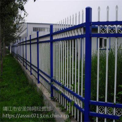 厂家批发 锌钢护栏 道路护栏 小区外墙方管护栏 组装穿插护栏 三横梁围栏杆 现货可定做