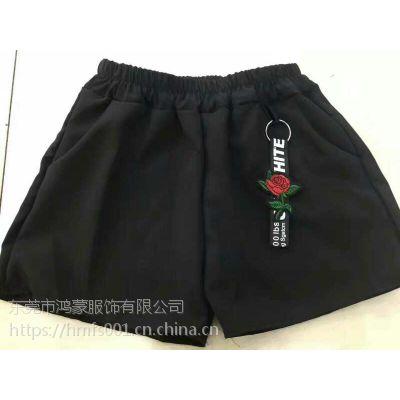 夏季女式短裤批发 休闲女装短裤清仓 工厂直销女装短裤尾货批发
