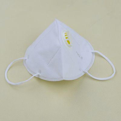 新款带呼吸阀口罩热销 挂耳式白色立体折叠口罩 PM2.5无纺布口罩