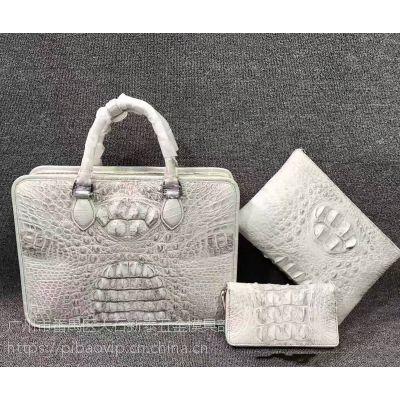 【定制皮包】2017新款广州手工厂包大包批发鳄鱼皮包欧美时尚真皮女包