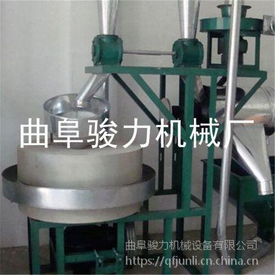 小麦磨粉机成套设备 全自动面粉石磨机 骏力加工石磨机械