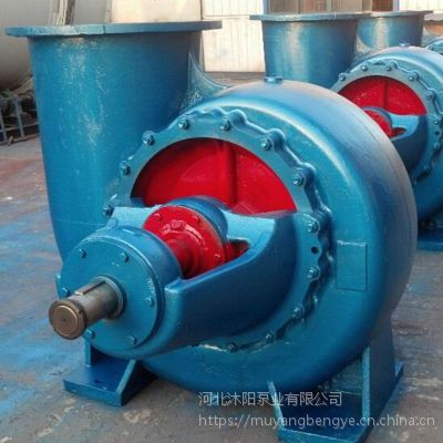沐阳泵业供应HW混流泵农田灌溉大流量离心泵柴油机水泵4寸6寸8寸10寸12寸14寸