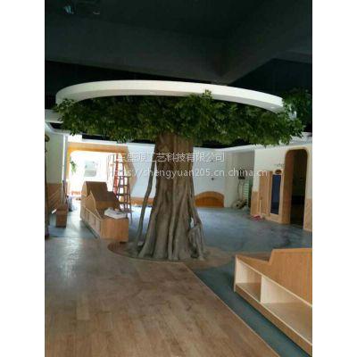 包柱榕树 办公室包柱装饰假树 大厅仿真树