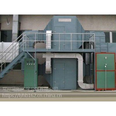 泰兴蒸汽吸附脱附设备+冷凝回收利用装置,15米烟囱高空排放效果惊人