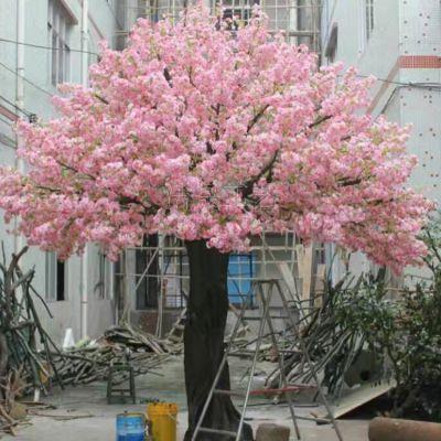 东莞大型仿真桃花树 两米高 做工逼真 PE材质