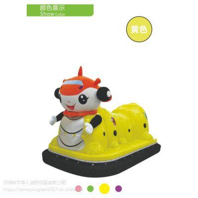 木羊人MYR-RXMMCC 卡通小动物造型儿童玩具车 热销毛毛虫发光碰碰车