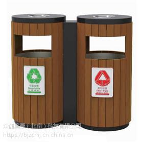 供应户外防腐木垃圾箱 公园木质垃圾桶 环保美观简约 众创美景桶业