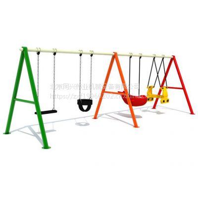北京同兴伟业定制经典户外儿童秋千,创意木桩轮胎秋千,幼儿园、公园、小区